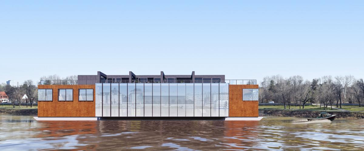 Pontoon will enrich the Danube embankment